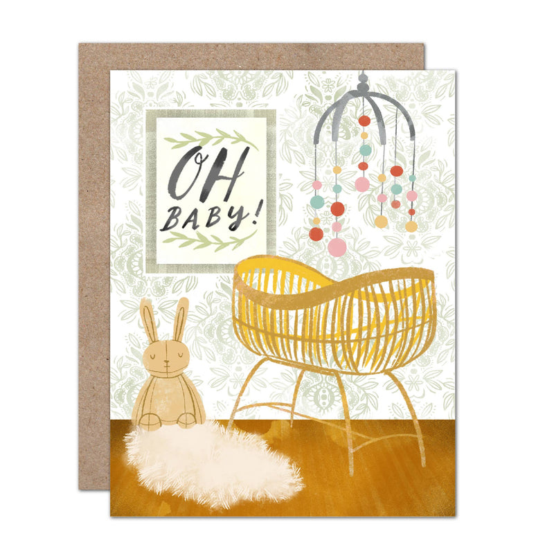 Oh Baby Nursery Baby Shower Card
