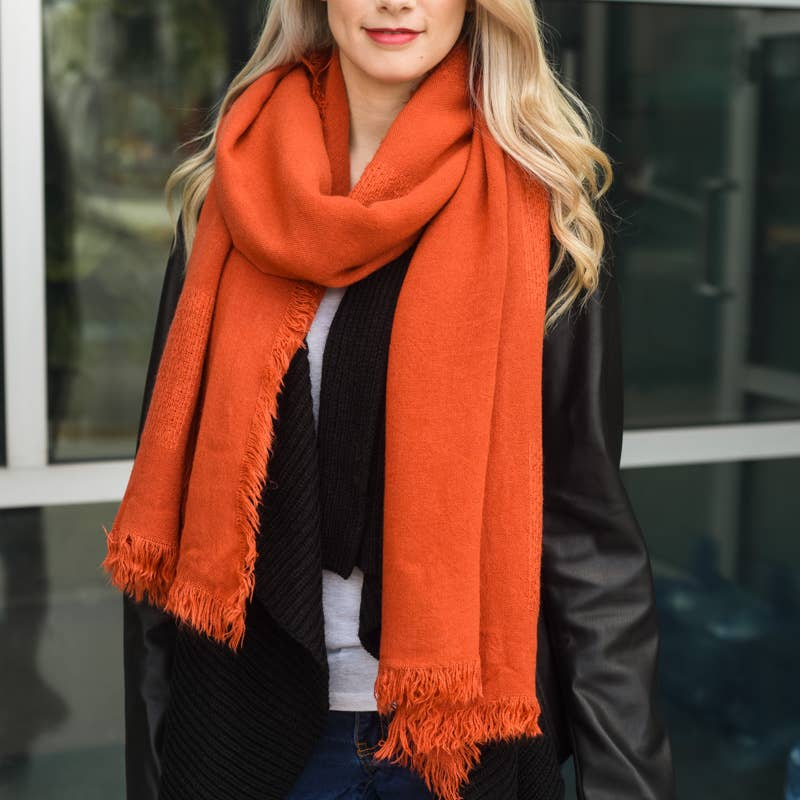 Grid Texture Solid Scarf