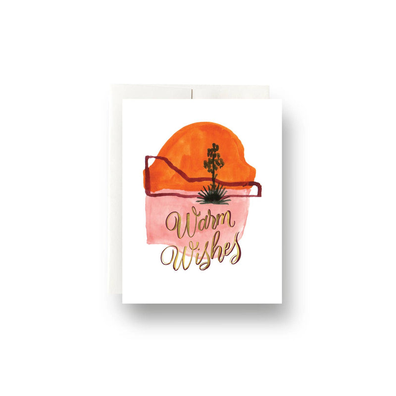 Abstract Cactus Warm Wishes Card