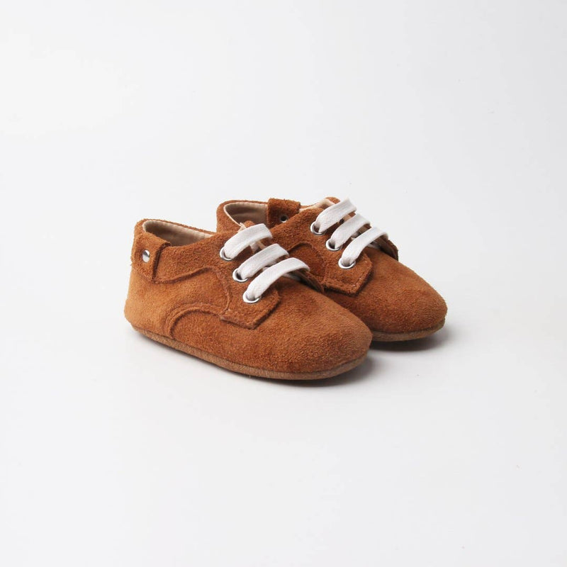 Brown Leather Baby Shoes