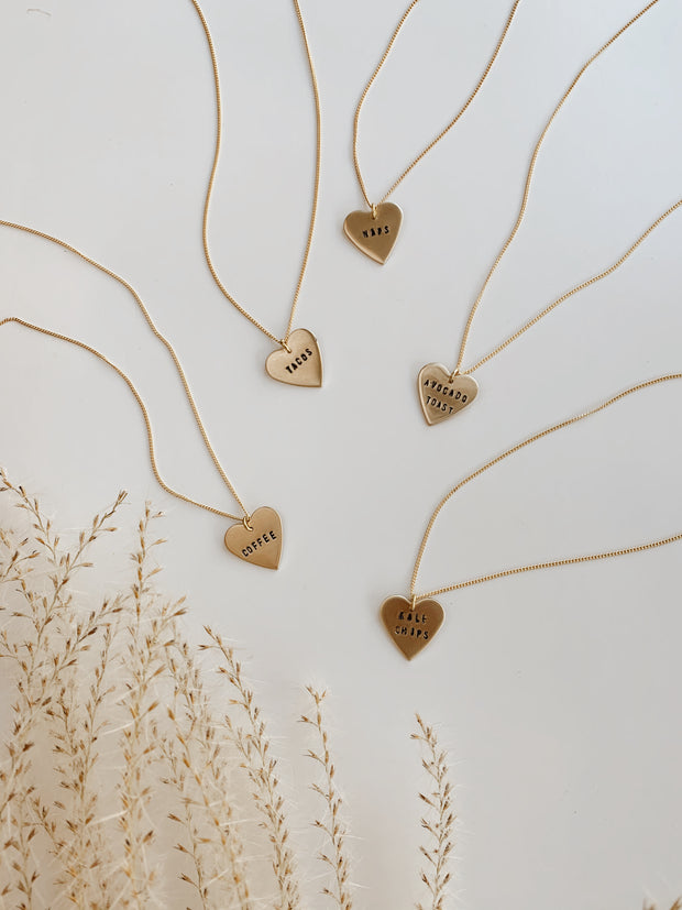 Custom 'Favorite Things' Heart Necklace 1