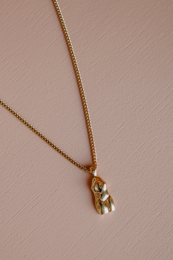 Goddess Necklace // Gold or Silver