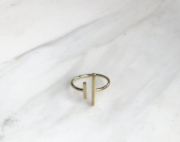 Asymmetrical Bar Rings