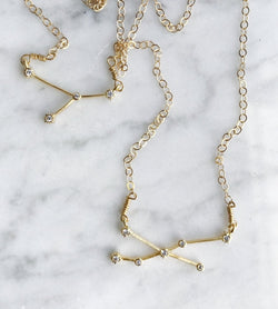 Rhinestone Constellation Necklaces