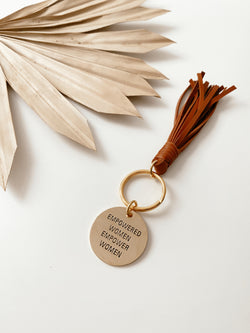 Empowered Women Empower Women Brass Key Tag