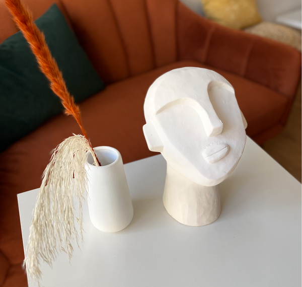 White Face Sculpture