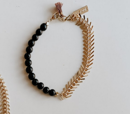 Stone and Chain Bracelet 1
