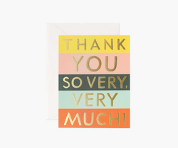 Thank You So Very, Very Much! Card