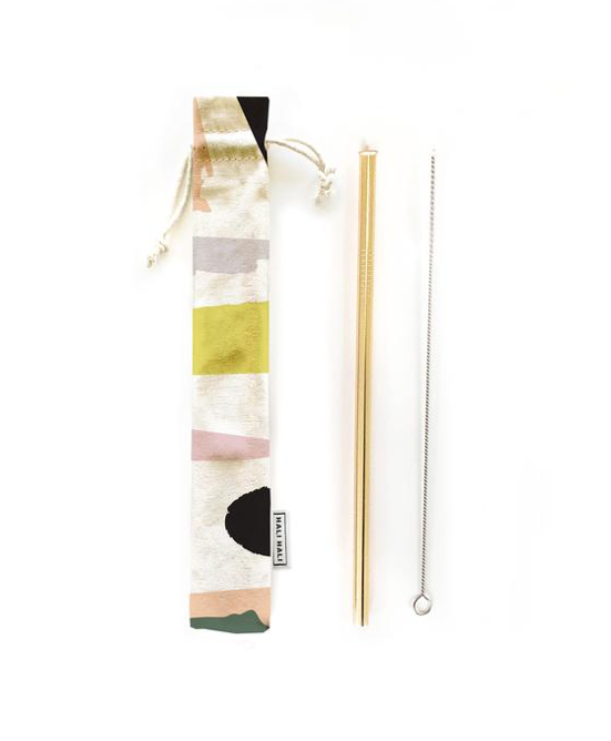 Hali Hali LLC - 3 pc Eco Friendly Reusable Straw Set - Let's Party