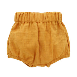 Emerson and Friends // Mustard Gauze Baby Bloomers