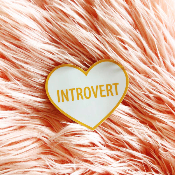 Luella // Introvert Heart Sticker