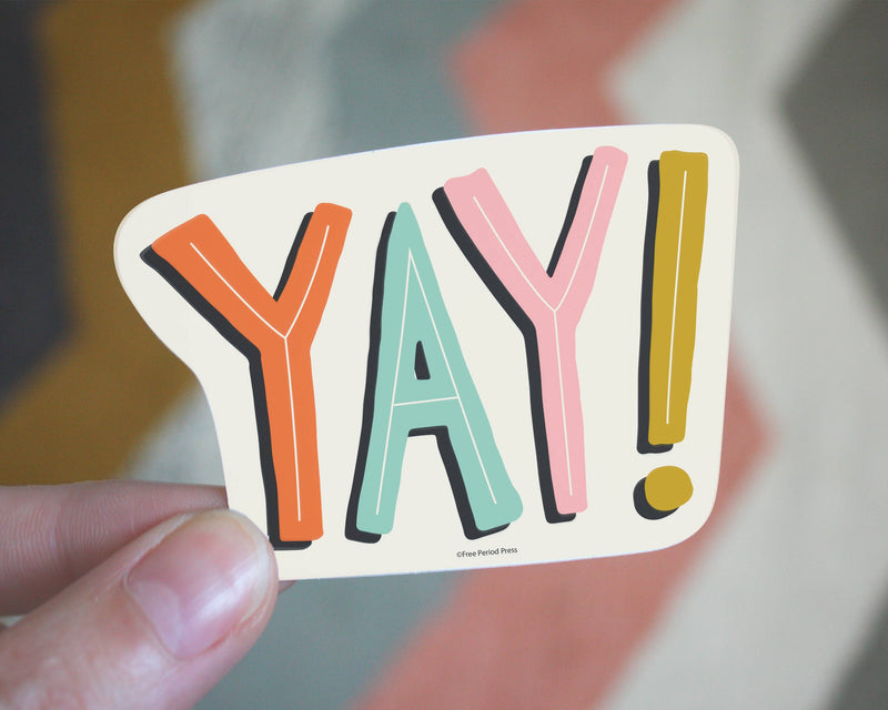 Free Period Press - Yay Vinyl Sticker