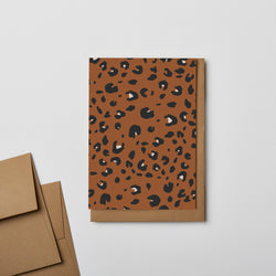 Kinshipped // Leopard Notecard