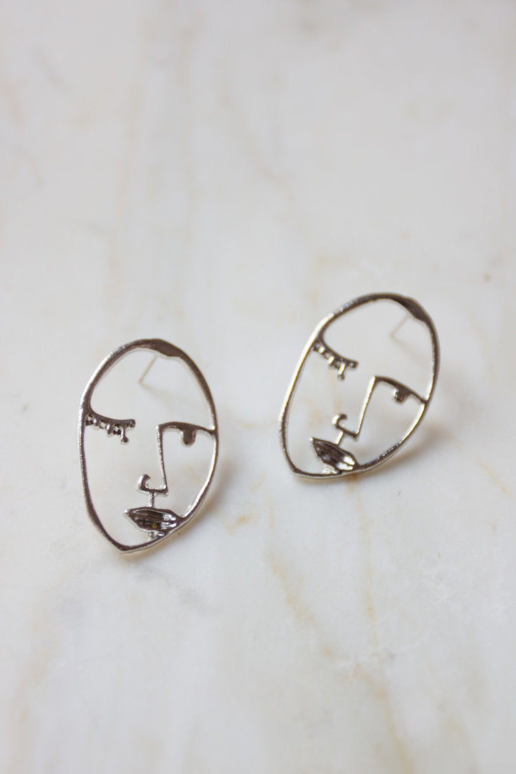 Visage Face  Earrings