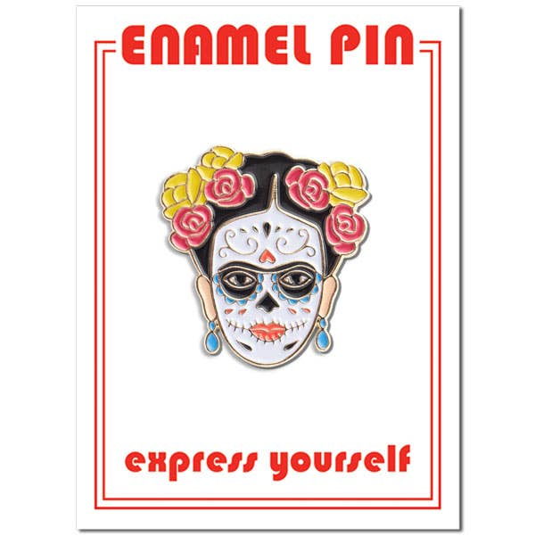 Frida Day of the Dead Pin