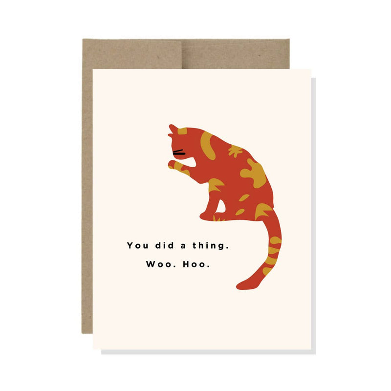 You Did a Thing Cat Card