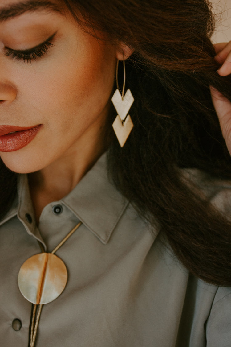 Fleches Double Chevron Arrow Earrings