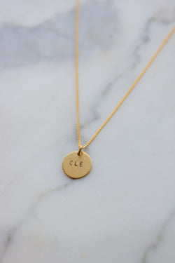 Custom Stamped Petite Disc Necklace