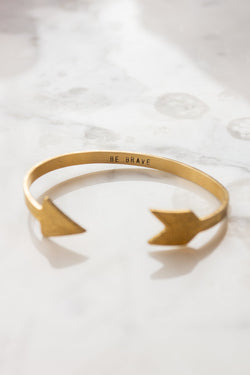 Custom Stamped Arrow Cuff