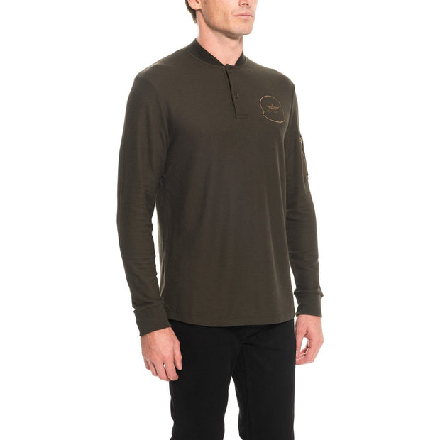 AIR T-shirt manches longues hommes Aerobatix vetements pilote avion
