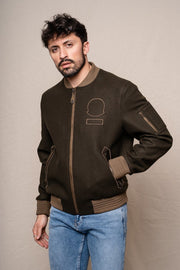 Bomber COLIS marron Bomber Aerobatix vetements pilote avion