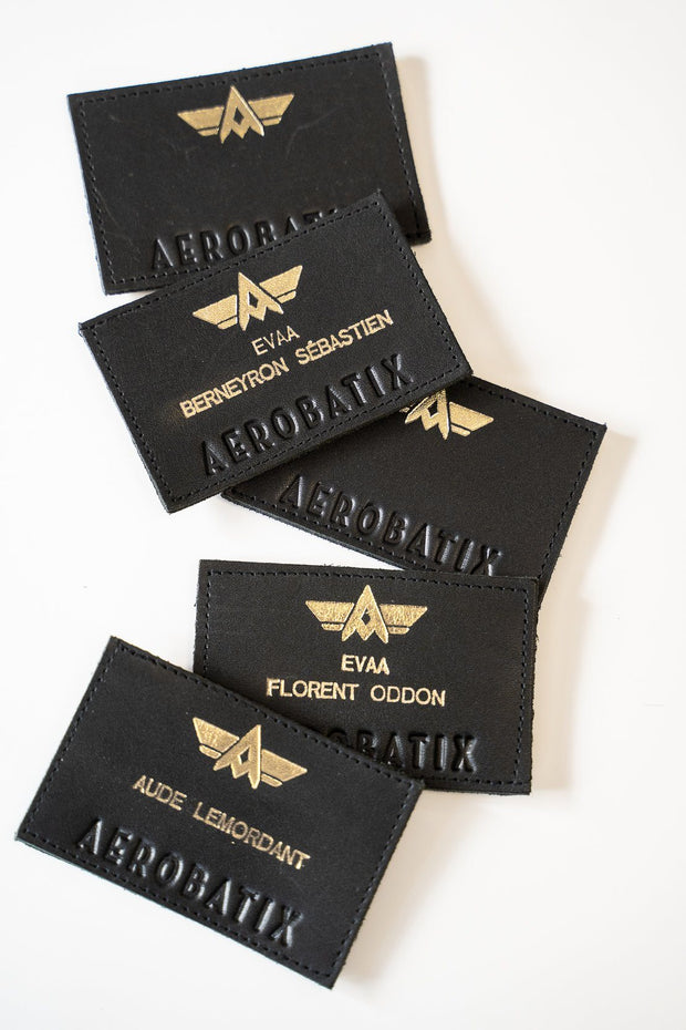 Patch Patronymique Écusson Aerobatix Bleu nuit vetements pilote avion