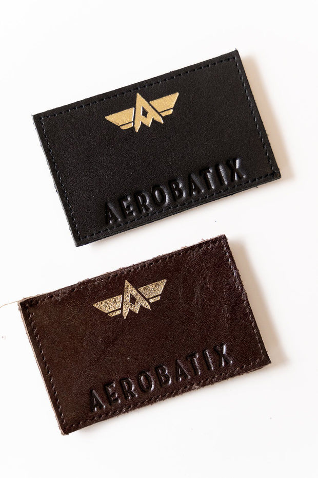 Patch Patronymique Écusson Aerobatix Marron vetements pilote avion