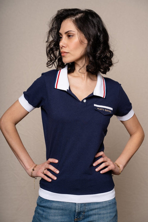 Polo Rêve bleu Polo femmes Aerobatix vetements pilote avion