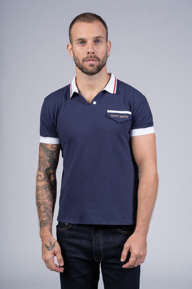 Polo Rêve bleu Polo hommes Aerobatix vetements pilote avion