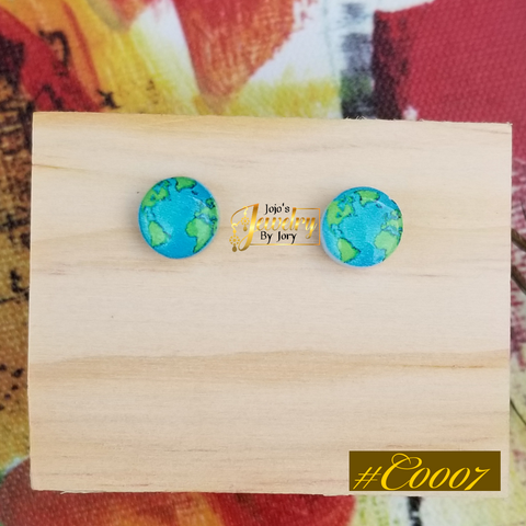 Whole World Kids Resin Statement Stud Earrings