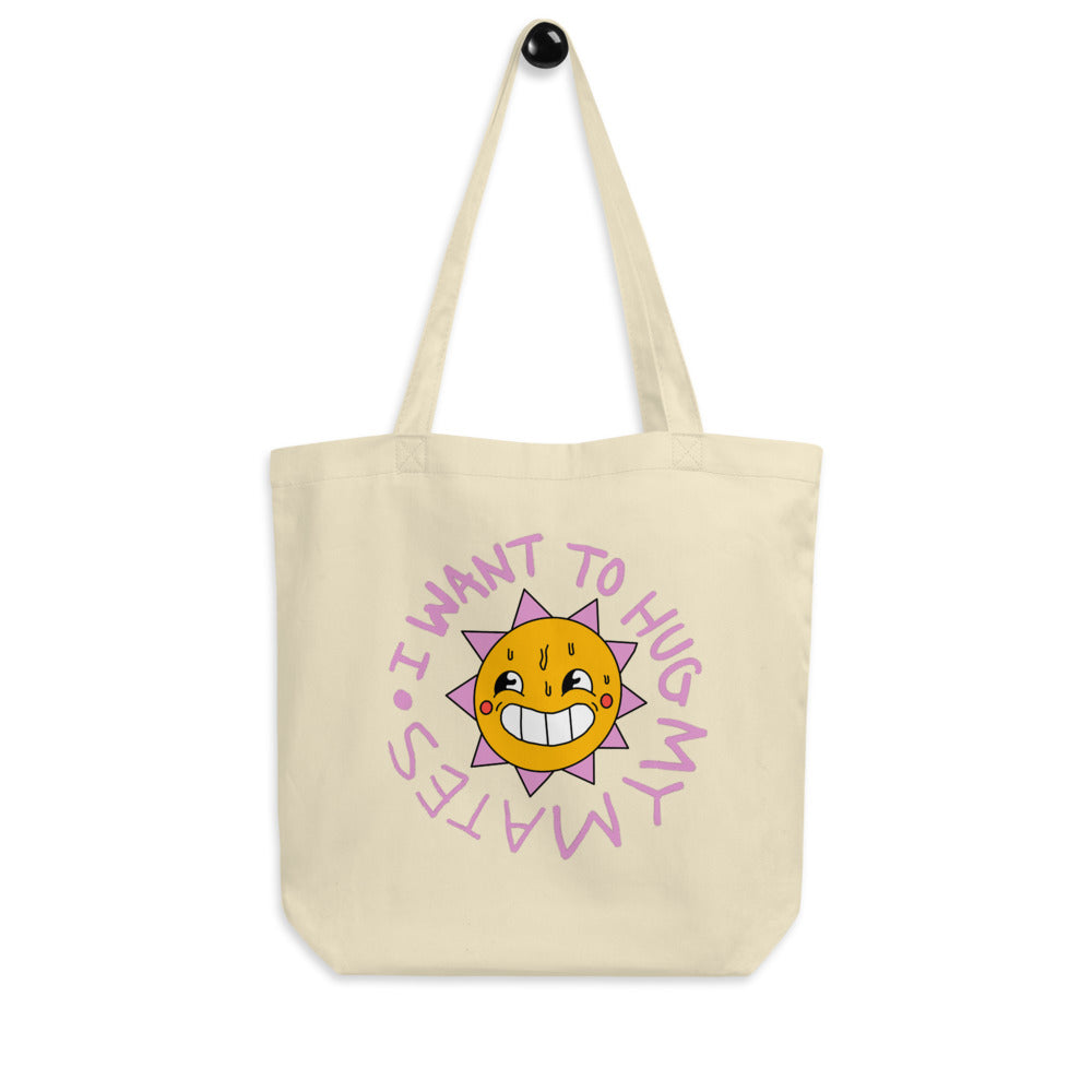 Wee Nuls x DSNT: Sunshine Hugs Eco Tote Bag [Black/Beige]