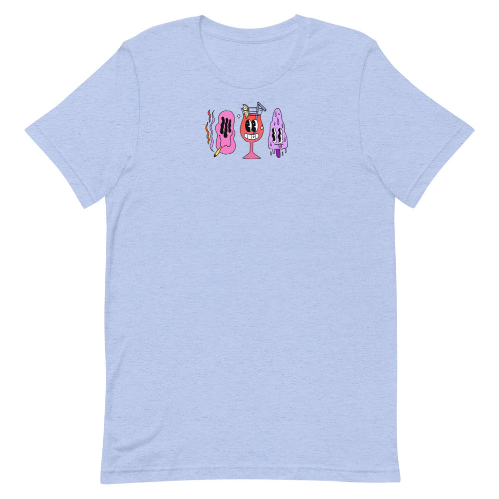Wee Nuls x DSNT: Summer Funtime T-Shirt [Cream / Pink / Light Blue]