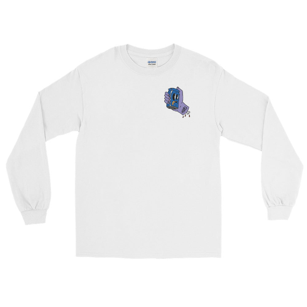 Wee Nuls x DSNT: Steamin' Can Longsleeve [White / Black]