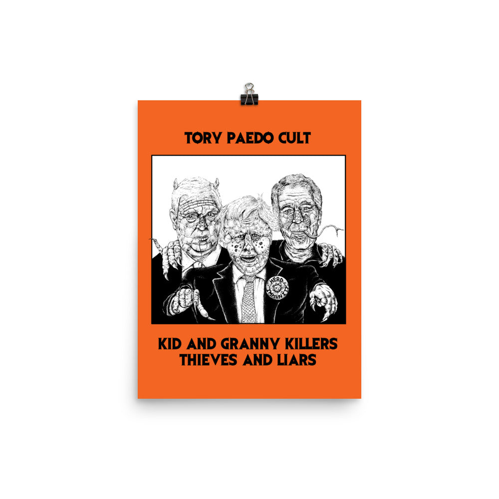 DSNT x Pogger: 2020 Tory Paedo Cult Giclée Poster