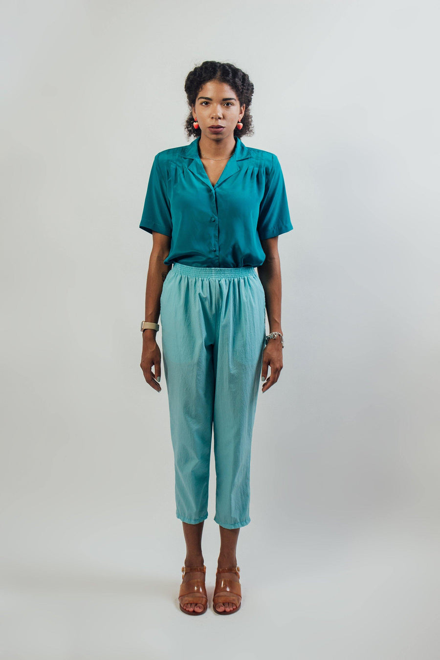 Vintage Green Highwaist Pants