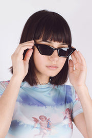 Black Cat Eye Sunglasses - Mawoolisa