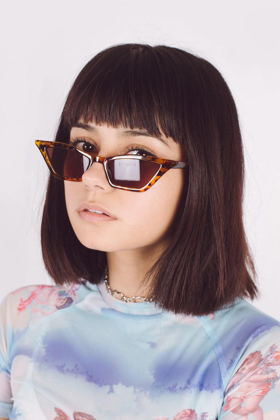 Tortoise Cat Eye Sunglasses - Mawoolisa