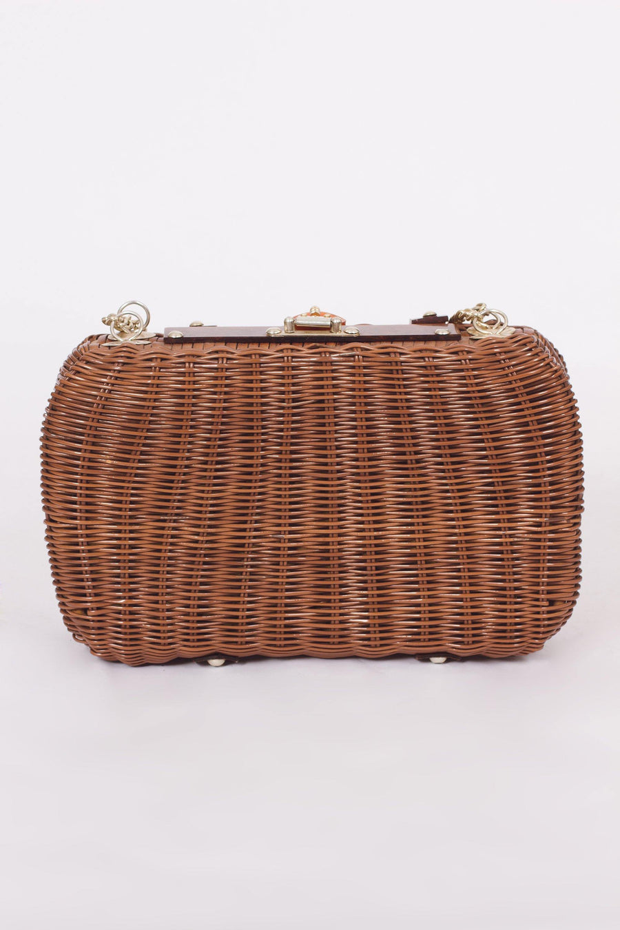 Vintage Brown Basket Purse