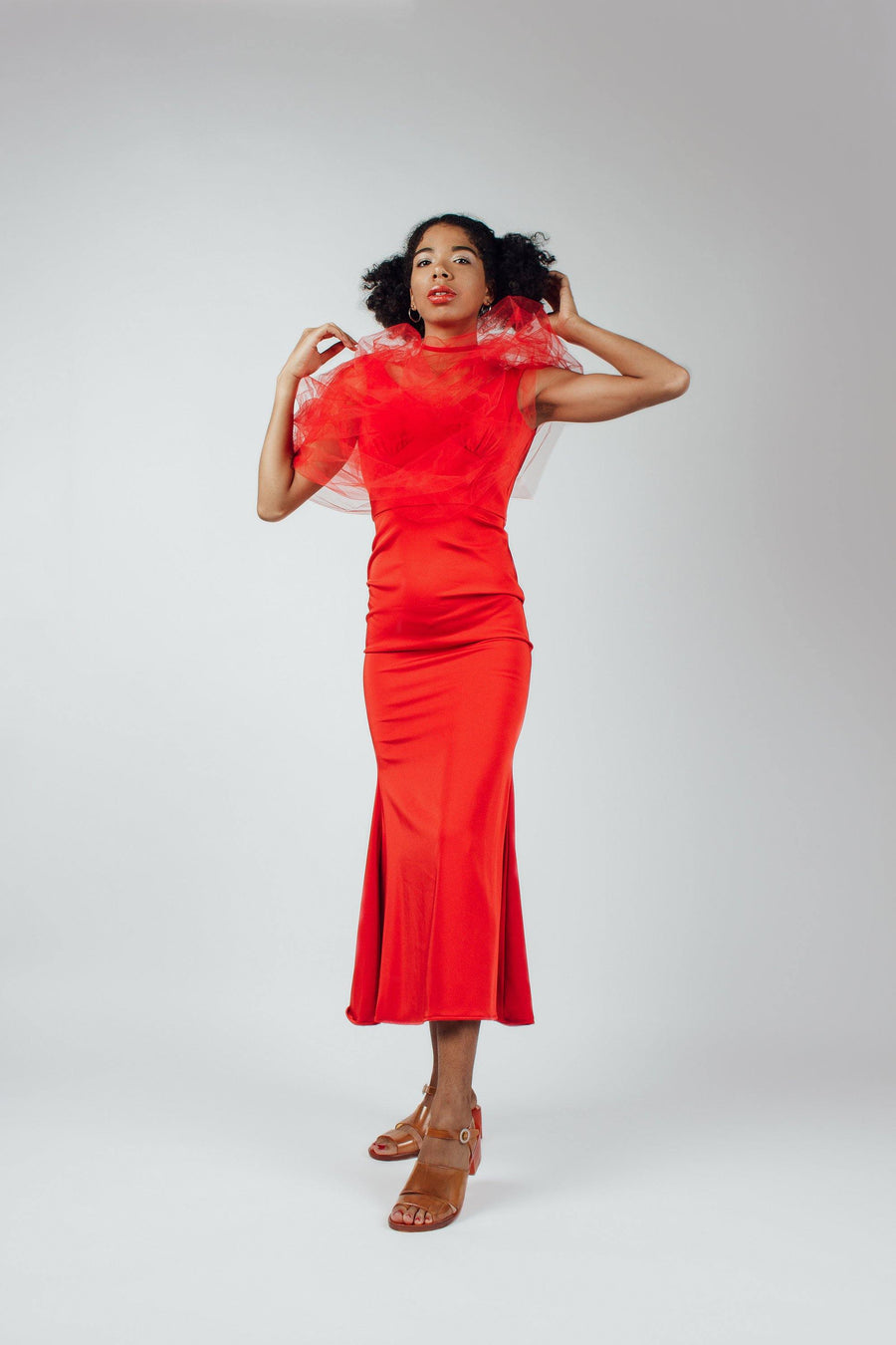 Vintage Red Evening Dress - Mawoolisa