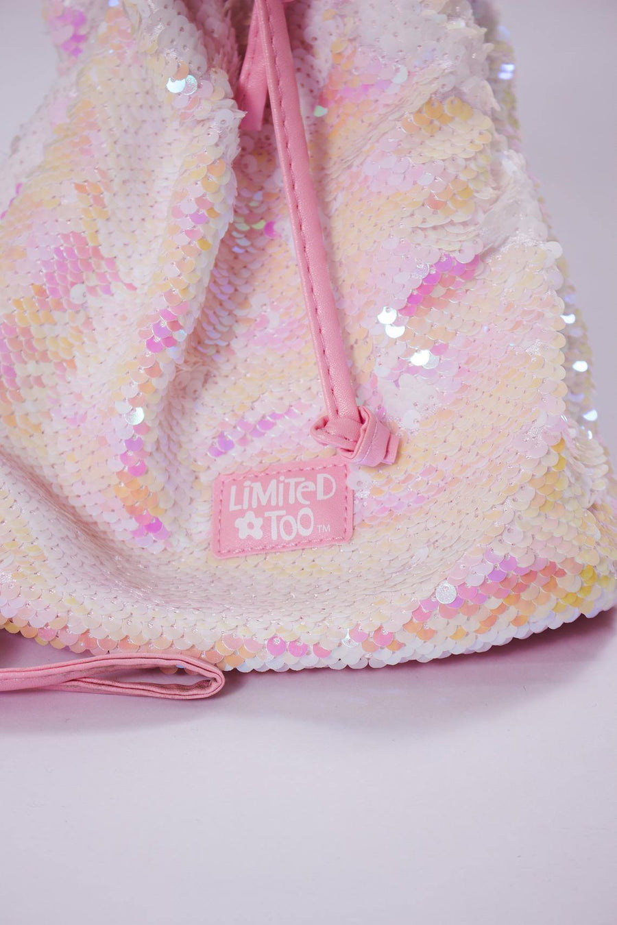 Limited Too Pink Glitter Purse - Mawoolisa