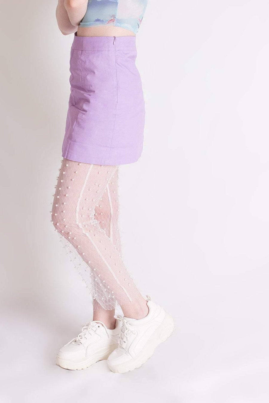 Pearl Mesh Leggings