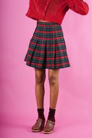 Vintage Plaid Tennis Skirt - Mawoolisa