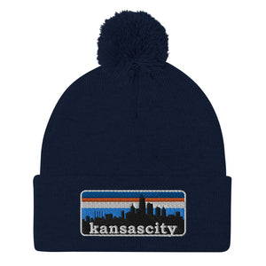 kansascity pom-pom stocking cap