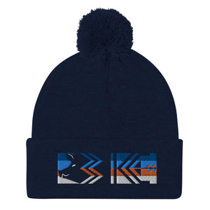 Three KC Pom-Pom Beanie