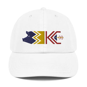 Three KC Logo Champion Dad Cap