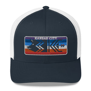 Three KC License Plate Trucker Cap