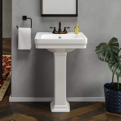Maxwell 100 Vitreous China Pedestal Sink