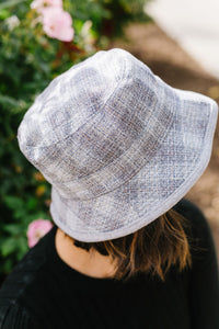 Reversible Plaid Print Bucket Hat