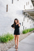 Load image into Gallery viewer, Black Criss Cross Romper