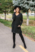 Load image into Gallery viewer, Brushed Melange V-Neck Sweater In Black